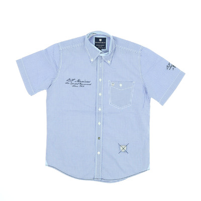 Basefield kék rövid ujjú ing