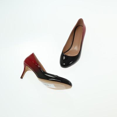 Graceland piros/fekete magassarkú cipő