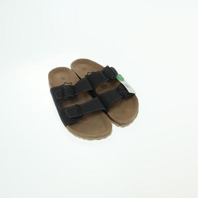 Echtes leder fekete papucs