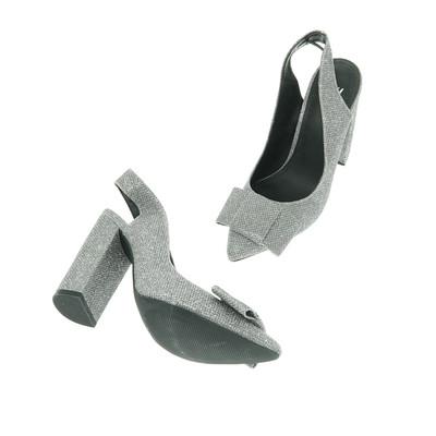H&M ezüst magassarkú cipő