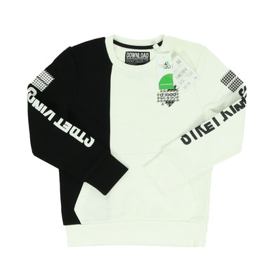 C&A fekete/fehér pulóver